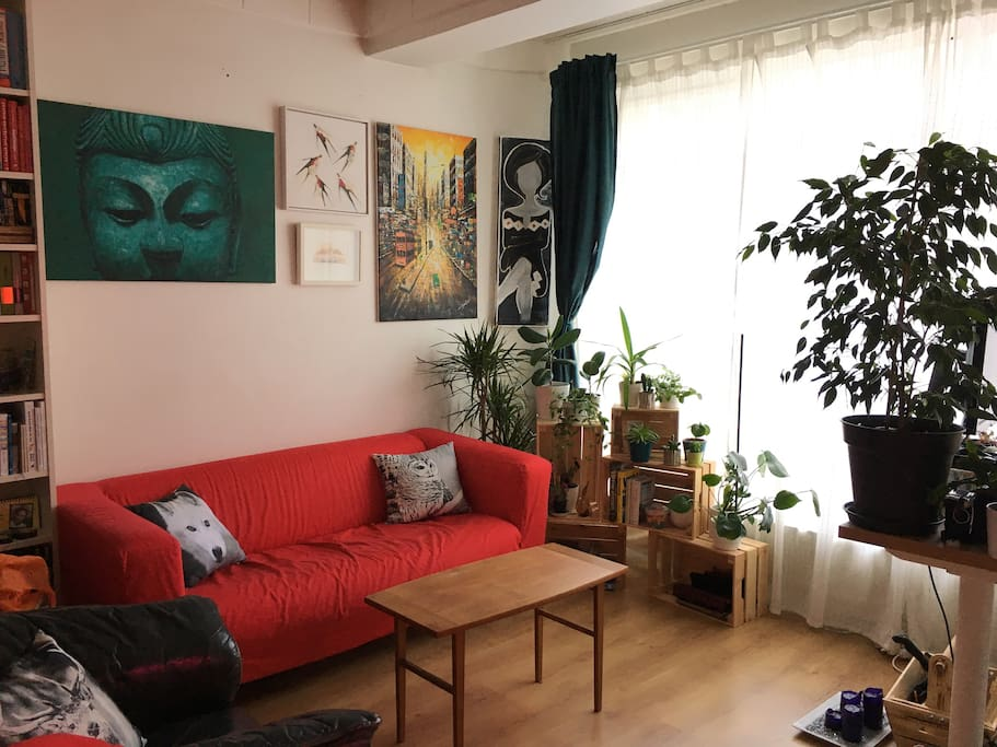 Living room is bright and spacious.