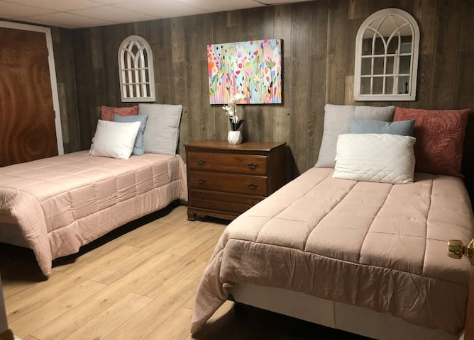 Bedroom #1: two full size beds