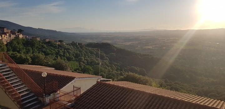 Appartamento panoramico in Toscana - Gavorrano