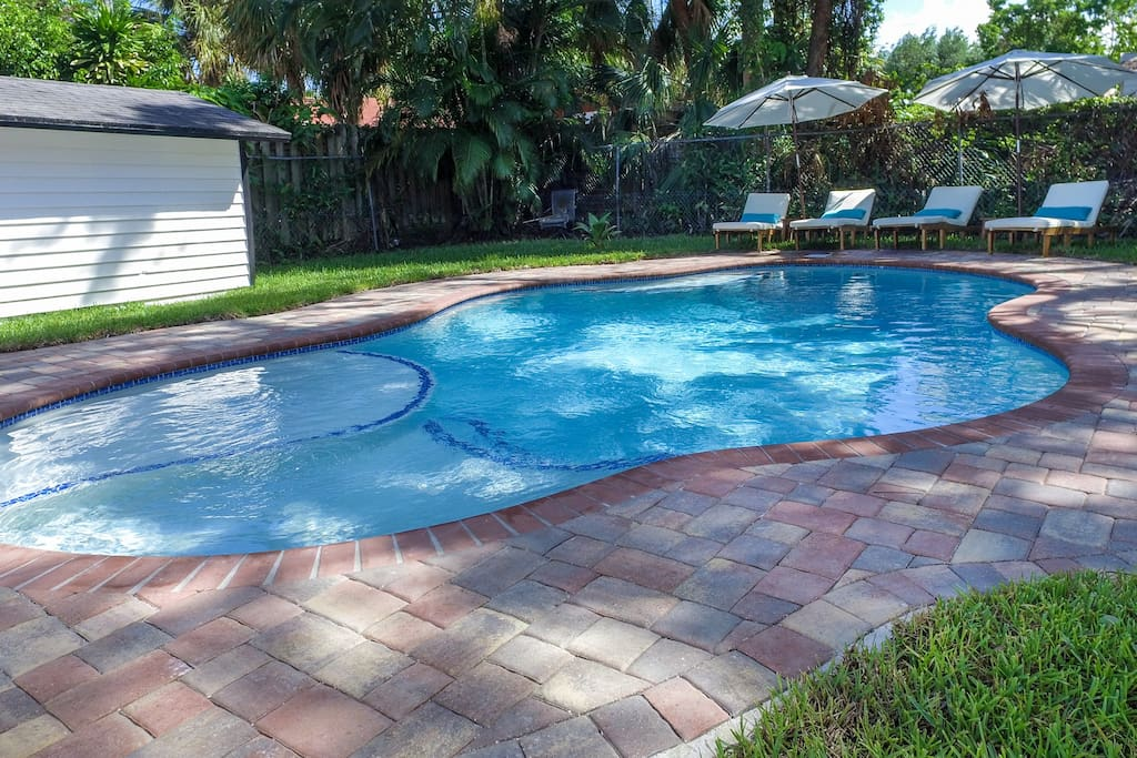 Private pool at cottage, exclusively for your use only.