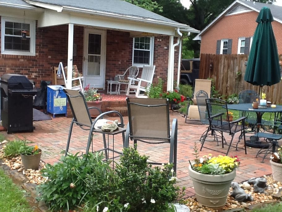 Covered Porch and Patio