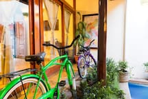 Two bicycles are included for our guests to use, and Granada is a great city to explore by bike! Each bike has a front basket and bicycle lock for use when exploring the town. Additional bicycles can be rented on La Calzada.