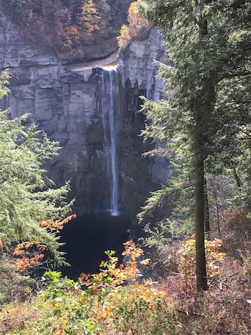 Amazing  hikes to gorges and  waterfalls  are close by including Taughannock Falls and Watkins Glen State Parks.