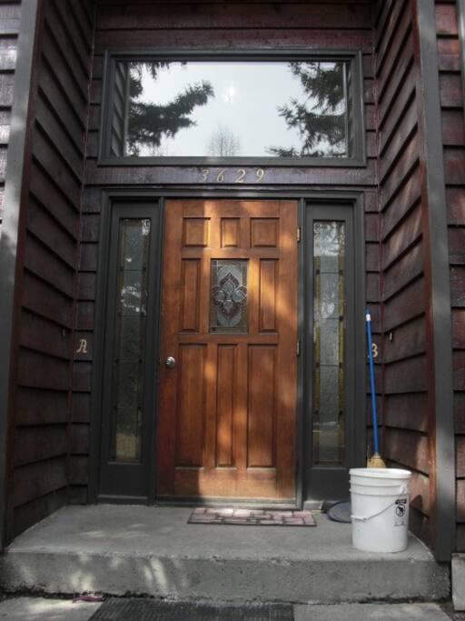 Front door to the building.