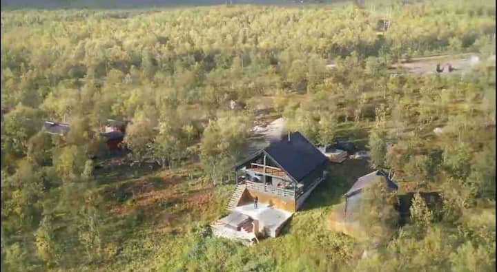 Camp Oinas Hytte med fantastisk beliggenhet.