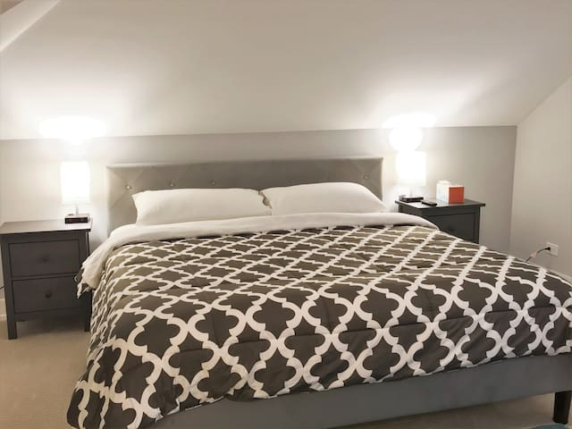 A2 Large Luxurious King Bed Bedroom Near Chicago