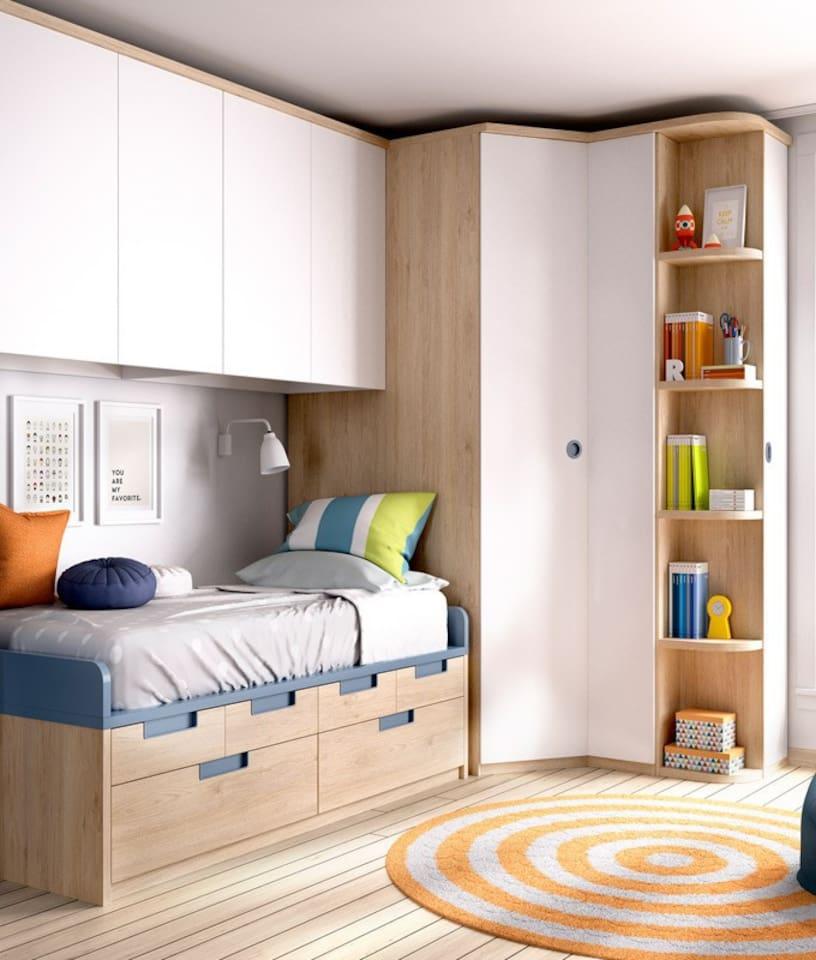 Dormitorio muy cómodo con almohada viscoelástica.