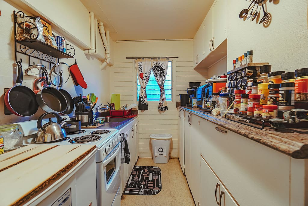 Rental includes full kitchen