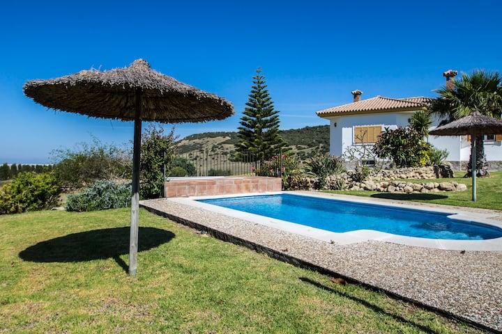 Sea view, 7 bed villa, pool, large garden, private