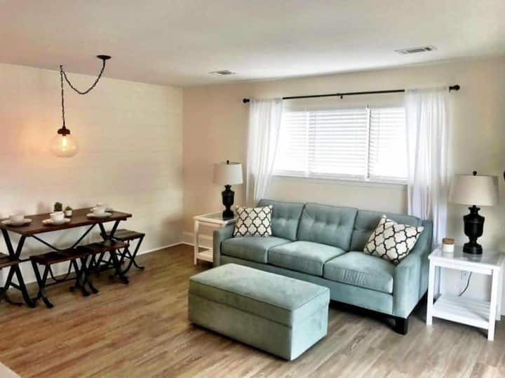 Coastal Modern Condo: One Block from Beach!