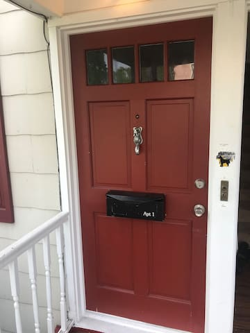 Front door to apartment 1