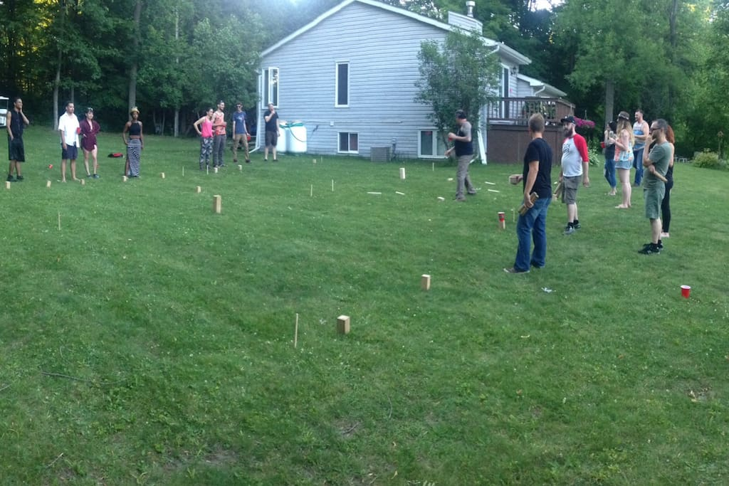Lots of space for lawn games