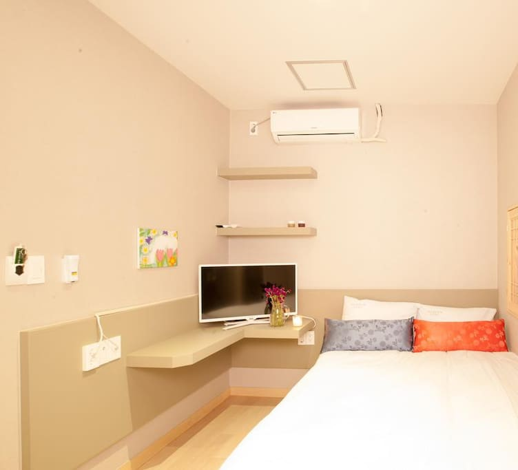 Room 2: A standard double bed