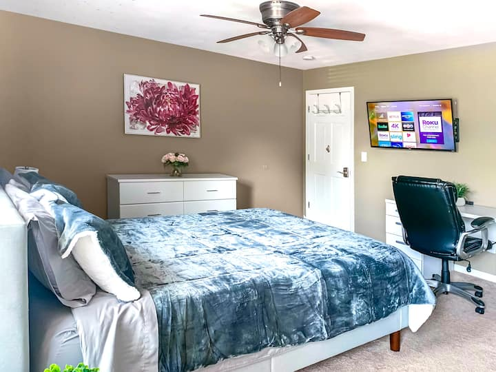 🔥Long Term Stay🔥Cozy Biz Suite🔥Fast WiFi 💯Smart TV