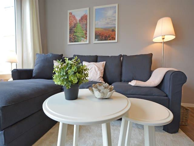 Ruhiges 2-Zimmer-Appartement mit Balkon, WLAN, TV