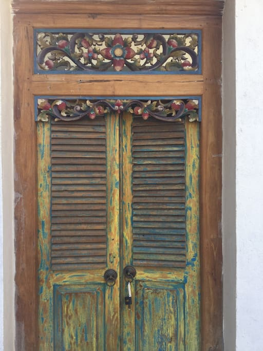 Traditional doors add character
