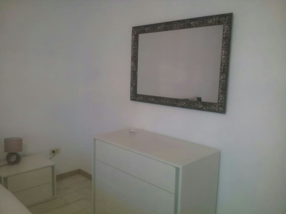 Master bedroom - drawer cabinet and mirror