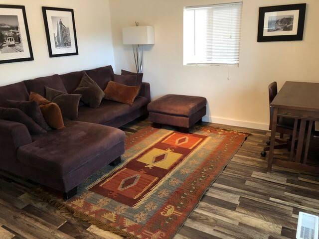 living room, work space/corner desk.