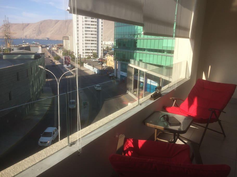 Balcón vista buque esmeralda