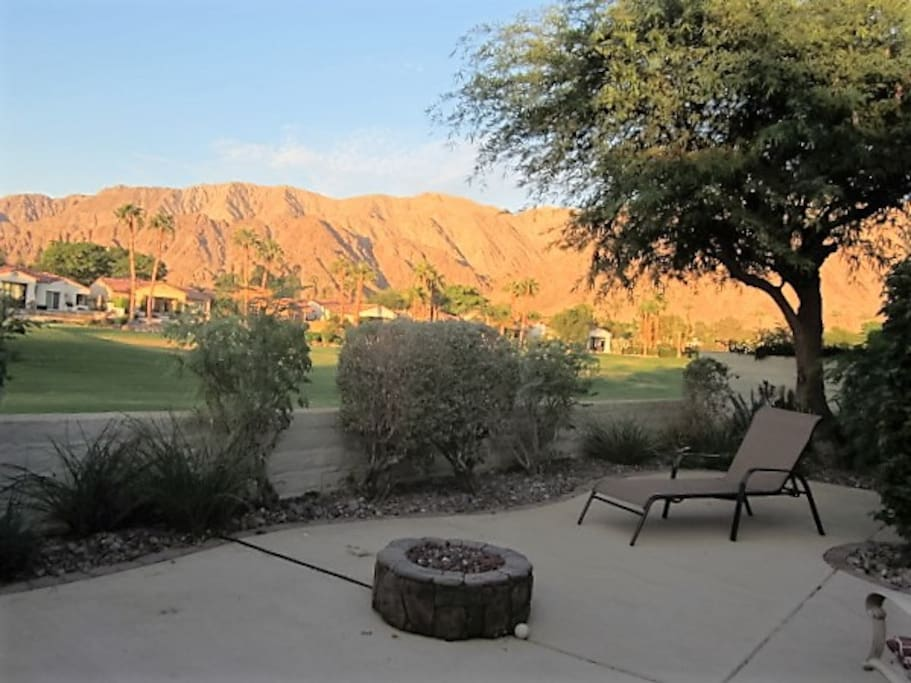 Back patio view across Pete Dye design fairway over 210 degree of continuous changing colors