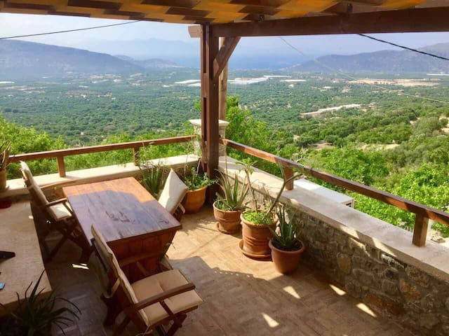 Traditional stone made Cretan house.