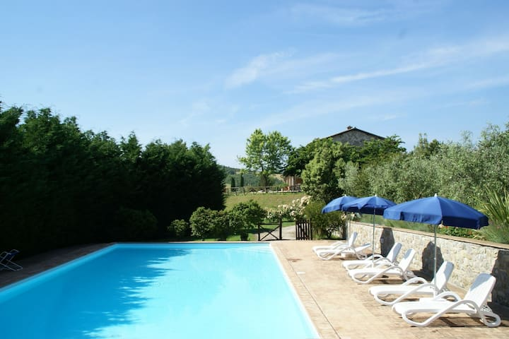 Nice apartment with shared swimming pool and beautiful view