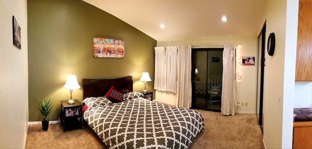 Master Bedroom - has attached Bath, 2 Double Closets and Vanity