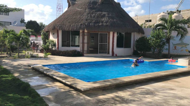 Unique Cabana in Tulum, Beautiful pool.