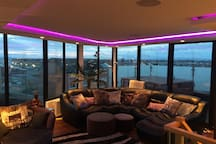 4th floor Sun lounge with hot tub and stunning views.
