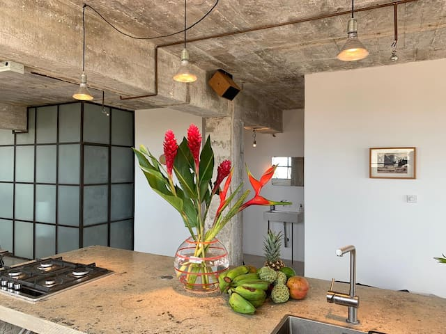 CAFE | Unique Loft 100m2 with sea views, Vedado