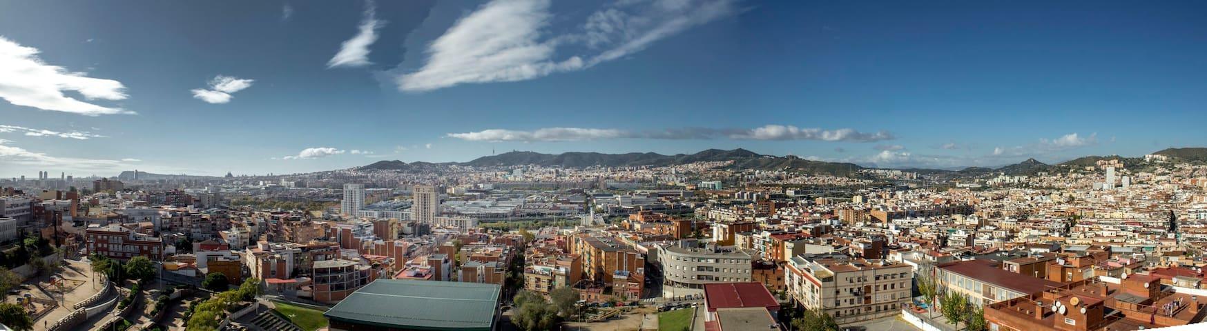 Hab. individual vistas panorámicas - Santa Coloma de Gramenet - Condominium