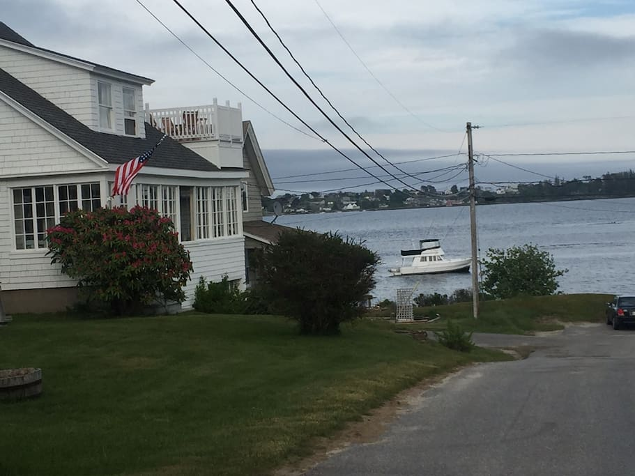 View approaching house just steps away from Casco Bay