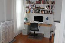 Office nook in master bedroom