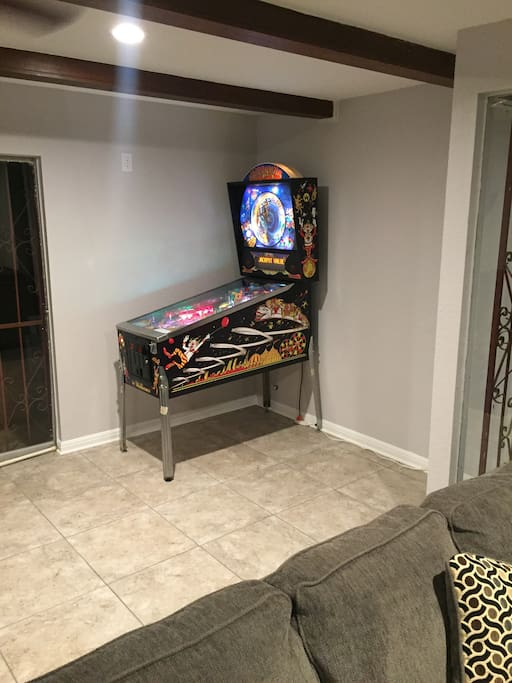 Full-size, working arcade pinball machine, as many free plays as you want!