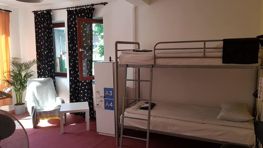 Popcorn Hostel Bucharest -one bed in Dorm A -mixed