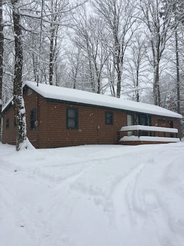 Oswegatchie Adirondack Cabin Retreat Winter Time to Enjoy Snowmobiling, Snowshoeing, Hiking from the Front Door