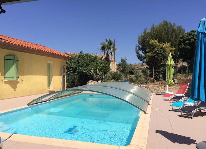 Gîte très agréable 2 Ch dans Villa Languedocienne