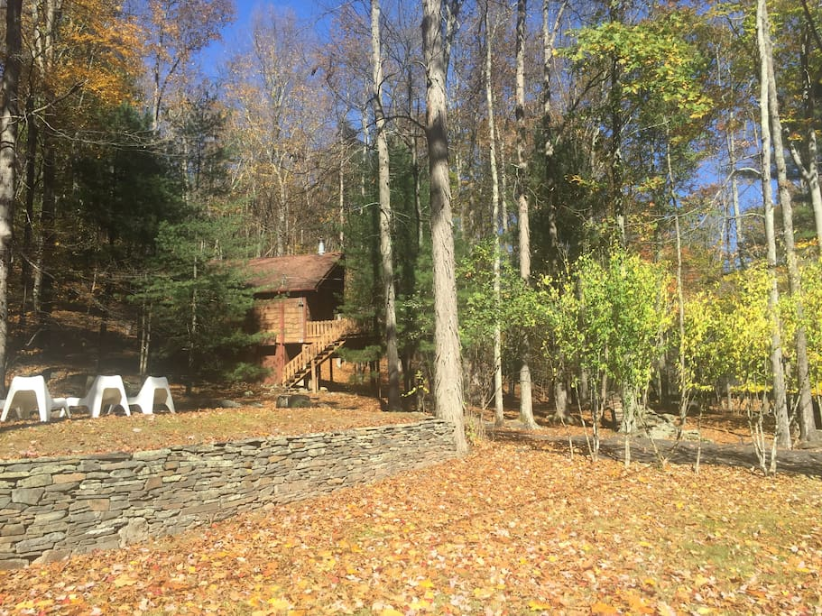 Side view of the house in the fall.