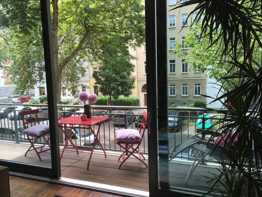 Large windows and spacious balcony