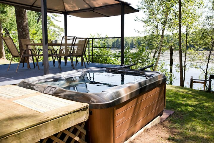 Waterfront Retreat w/ Hot Tub, Boat, ATV Trails