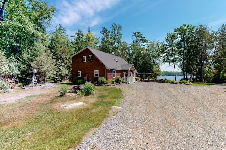 New listing! Dog-friendly lakefront gem w/ private dock, kayaks, & horseshoe pit