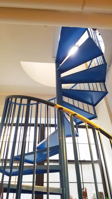 Our spiral staircase is SWEET!
