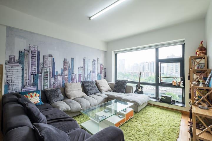 深圳未央青年旅舍舒适二人间(会展中心店) - Shenzhen Shi - Appartement