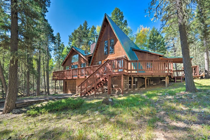 NEW! Angel Fire A-Frame < 4 Miles to Ski Resort!