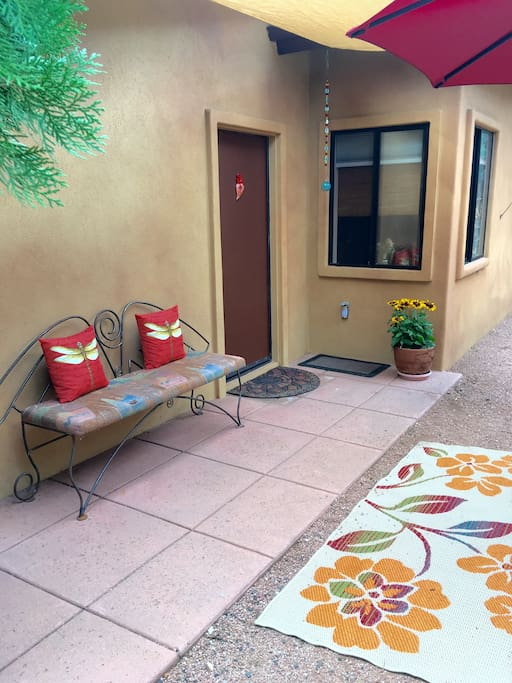 Guest private entrance and outdoor sitting area