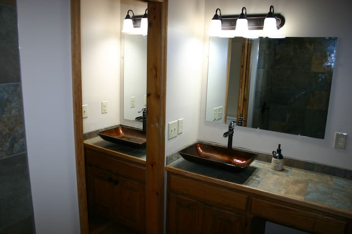 Double sink master bathroom