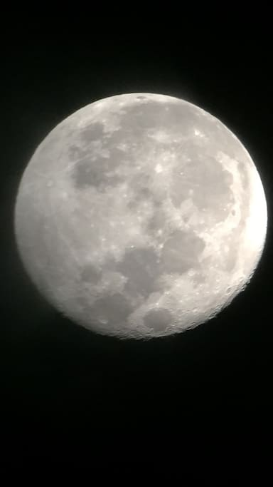 We have a telescope that you can see the moon and the planets and capture pictures like this using your phone!!