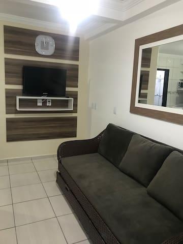 Sala com sofá-camas