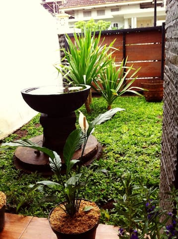 small garden infront of the house