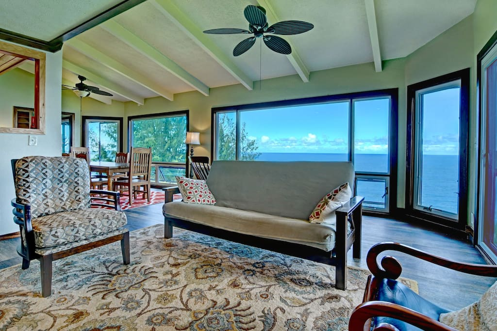 The home is built with many large windows to take in that incredible view.